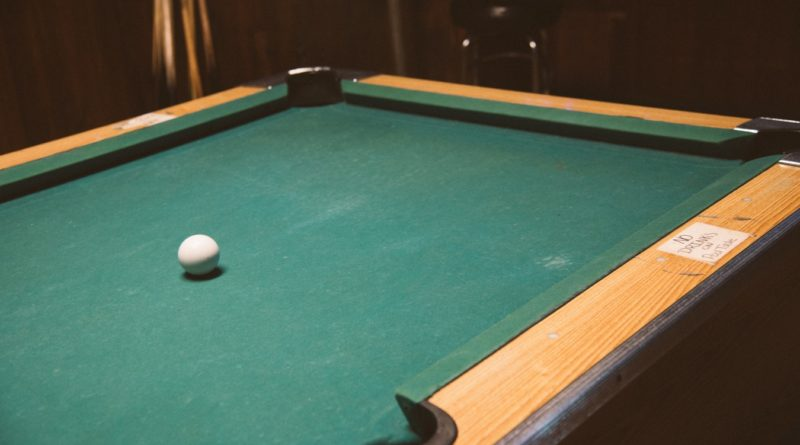 Pool Table With Green Felt