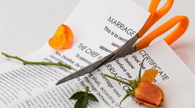 divorce marriage certificate cut